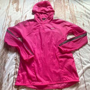 Nike light weight pullover jacket-pink-size Small
